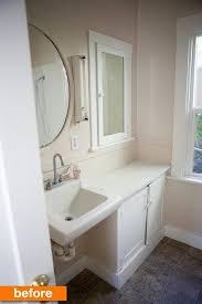 before u0026amp after megan u0027s modern u0026 mexican tile small bathroom