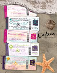 destination plane ticket wedding invitation full set