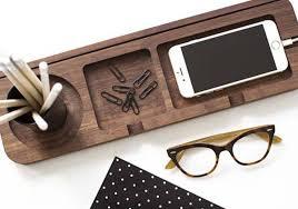 Wood Desk Organizer Handmade Platform 3 Wooden Desk Organizer Gadgetsin