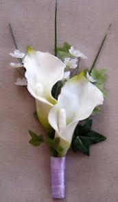 calla corsage white calla corsage boutonniere choose your color real