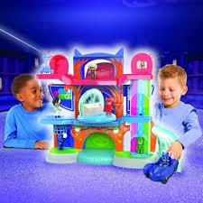 amazon play pj masks headquarters playset toys u0026 games