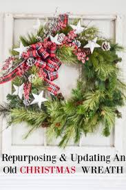 repurposing and updating an old christmas wreath so easy
