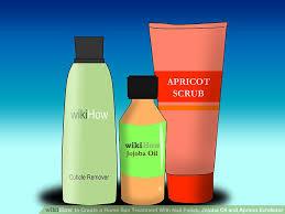 how to create a home spa treatment with nail polish jojoba oil