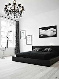 chambre a coucher noir et blanc organisation deco chambre à coucher adulte moderne decoration