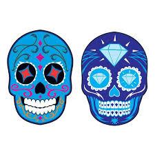 blue bling sugar skull temporary taintedtats