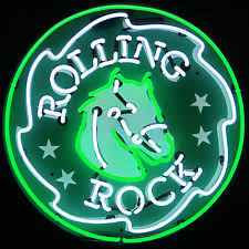 Neon Bar Lights Collectible Rolling Rock Signs U0026 Tins Ebay