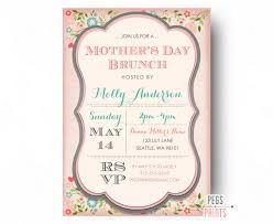lunch invites mothers day brunch invitation printable mothers day