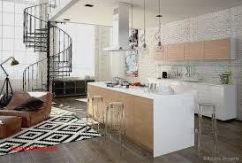 cuisine ouverte sur salon idee deco cuisine ouverte salon salle manger les suspension in