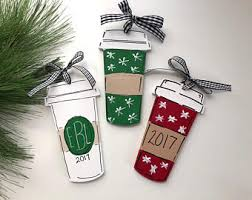 coffee cup ornament etsy