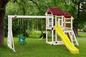 Small Backyard Swing Sets by Backyard Swing Set Ideas Backyard And Yard Design For Village