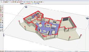 plan maison en u ouvert plan de maison sketchup