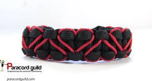 bracelet with hearts images Heart stitched paracord bracelet paracord guild jpg
