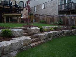 Steep Hill Backyard Ideas On Pinterest Sloped Yard Sloping Pictures With Outstanding