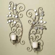 Silver Wall Sconce Candle Holder Wall Sconce Candle Holder Home Designs Insight High Quality