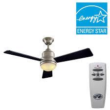 Hampton Bay Ceiling Fan Internal Wiring Diagram by Hampton Bay Midili 44 In Indoor Brushed Nickel Ceiling Fan With