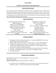 Resume For Property Management Job by Classy Inspiration Facility Manager Resume 1 Facilities Resume