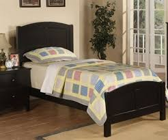Twin Sized Bed Poundex Furniture F9208 Black Kids Twin Bed Kid Bedroom Furniture