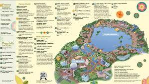 disney epcot map epcot showcase map disney maps