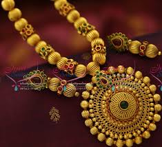 gold plated bead necklace images Nl5261 antique gold plated beads mala round pendant fashion JPG