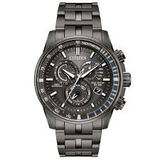 mens stainless steel bracelet watches images Men 39 s citizen perpetual chrono a t charcoal grey dial and jpg