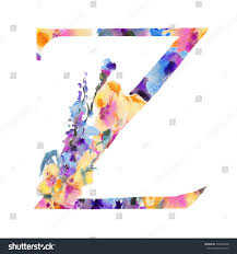 shades of color english alphabet drawn manually executed shades stock illustration