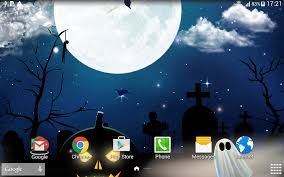 blue halloween background halloween wallpaper android apps on google play
