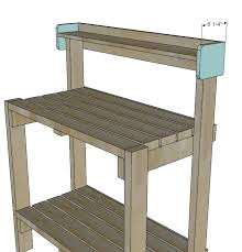 Outdoor Potters Bench Ana White Simple Potting Bench Diy Projects