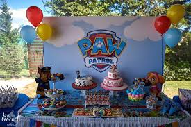 paw patrol candy table ideas george s 5th danae s 3rd birthday party paw patrol peacock events