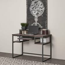 Student Desks With Hutch by Home Styles Barnside Gray Desk With Shelves 5053 16 The Home Depot