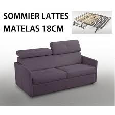 matelas canape lit canapé lit montmartre rapido matelas 18cm sommier lattes lampolet