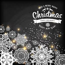 christmas snowflake background vector free download