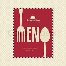 Designs Of Menu Card Restaurant Menu Card Design Template Stock Vector Colourbox