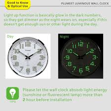 Vermont travel clock images Night light function plumeet 13 inch wall clock with jpg