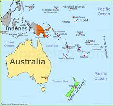Micronesia Map Oceania Map Political Map Of Oceania With Countries Annamap Com