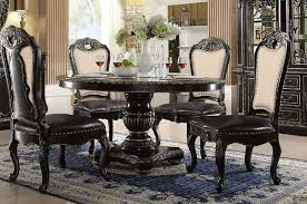 ebony table and chairs mcferran home furnishings d5188 5 piece round dining table set in