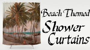 Tropical Beach Shower Curtains by Curtains Coastal Wall Decor Beach Cottage Bathroom Design Beach
