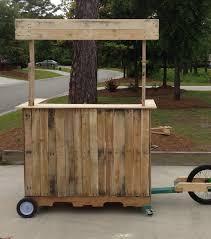 mobile lemonade stand bar made from pallets reuse pinterest