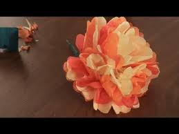 How To Make Mexican Paper Flowers - how to make paper mexican flowers paper art projects youtube