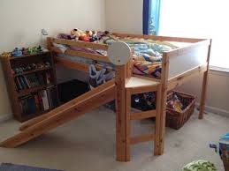 ikea loft bed with slide my kids would love this for the
