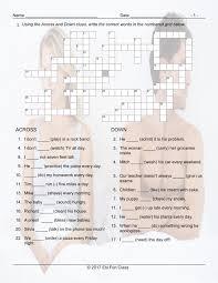 grammar crossword puzzle worksheets esl fun games remember to have