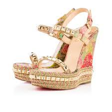 christian louboutin cataclou cork multicolor louboutin sandals