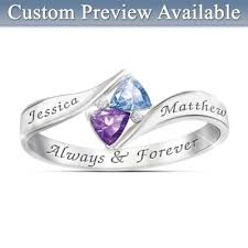 personalized birthstone rings womens ring promise personalized ring