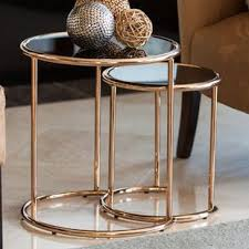 gold nesting coffee table gold nesting tables you ll love