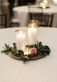 candle centerpiece wedding candle wedding centerpiece purple and greenery centerpiece simple