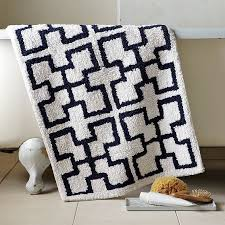 Navy Bath Mat Interesting Trellis Bath Rug With Navy Blue Bathroom Rugs
