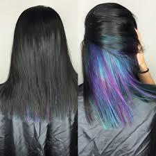 black teal u0026 purple hair underlights hairbyjessq black