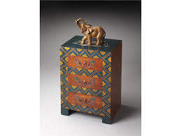 Traditional Accent Orange And Blue Narrow Cabinets With Appealing Accent Chest And