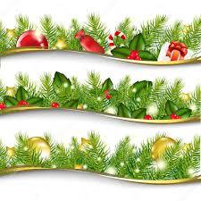 christmas garland set u2014 stock vector barbaliss 7888739