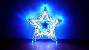christmas and party lighting led star light blue and white