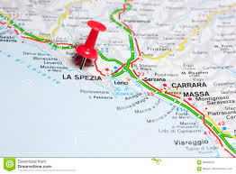 Liguria Italy Map by La Spezia Italy On A Map Stock Photo Image 83669379